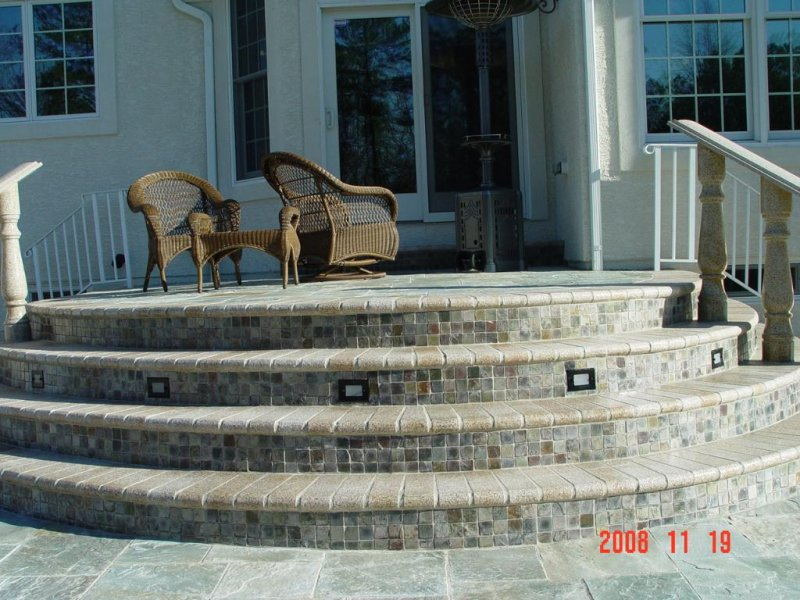 Granite with Mosaic Steps