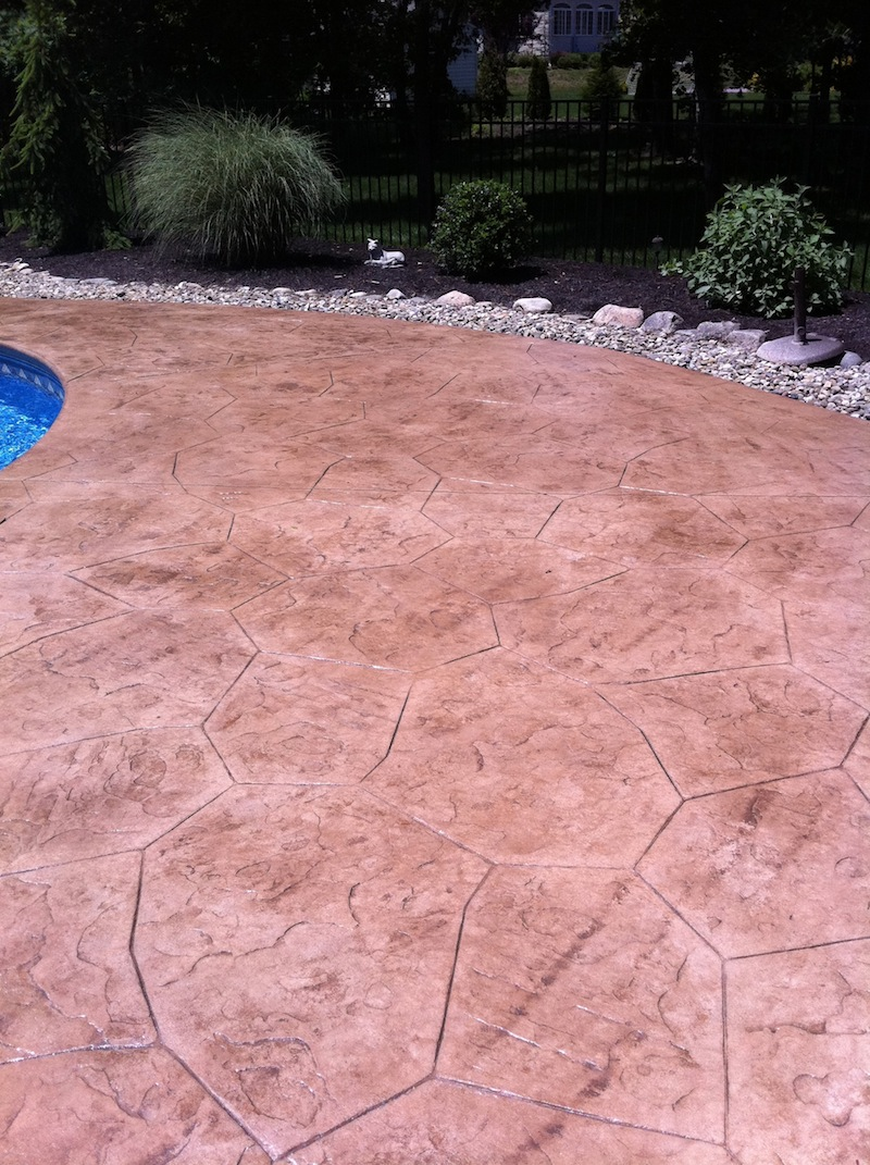 stamp concrete patio nj