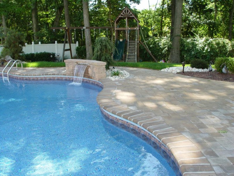 Pavers patio and pool surround new jersey masonry contractor for Pool surround ideas