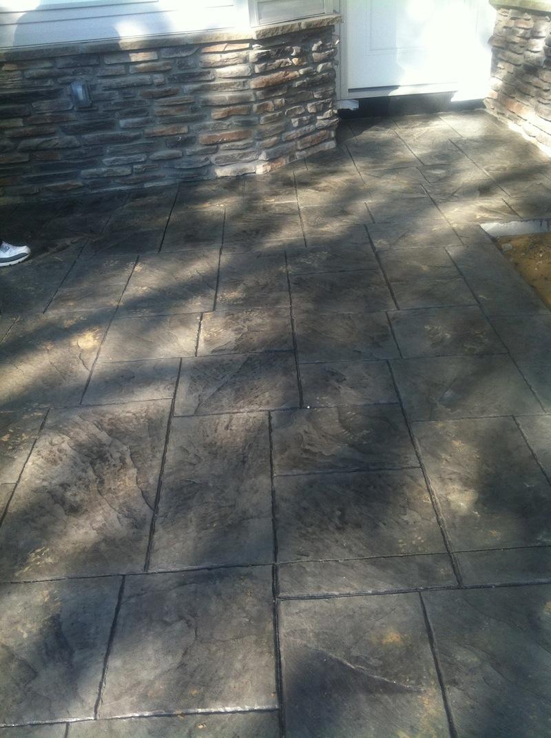 stamp concrete patio nj