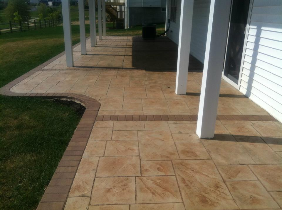 stamped concrete patio new jersey masonry contractor
