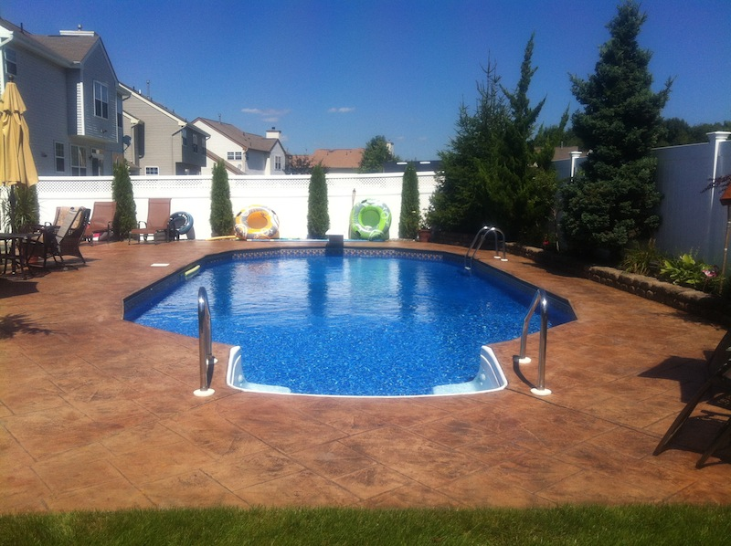 stamped concrete pool nj