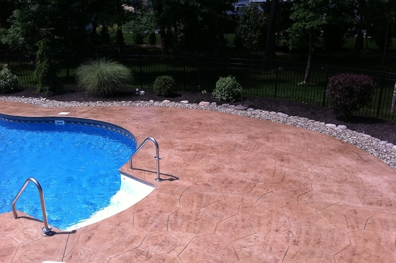 Stamped Concrete Pool Deck Concrete Pool Renovation Nj