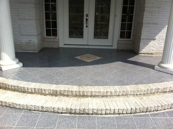 Granite Front Steps