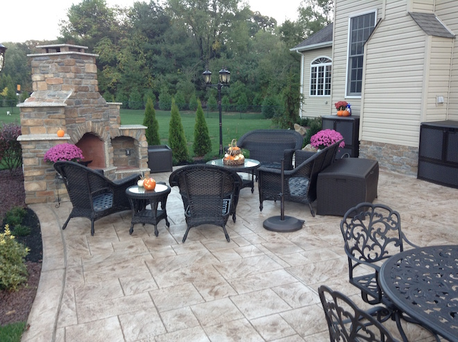 outdoor fireplace contractor nj